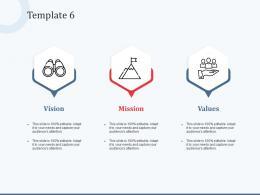 Template 6 Vision Mission And Values Ppt Powerpoint Presentation Infographic Template Portfolio