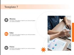 Template 7 Vision Mission And Value Statement Ppt Powerpoint Presentation File Portrait