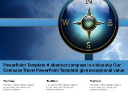 Template A Abstract Compass In A Blue Sky Our Compass Travel Template Give Exceptional Value
