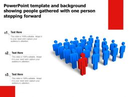 Template And Background Showing People Gathered With One Person Stepping Forward
