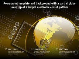 Template And Background With A Partial Globe Over Top Of A Simple Electronic Circuit Pattern