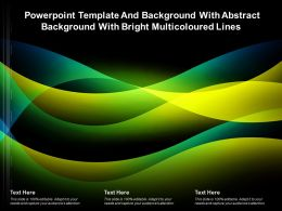 Template And Background With Abstract Background With Bright Multicoloured Lines