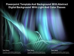 Template And Background With Abstract Digital Background With Light And Color Passes