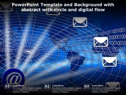 Template And Background With Abstract With Circle And Digital Flow Ppt