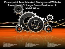 Template And Background With An Assortment Of Large Gears Positioned In Metal Wires