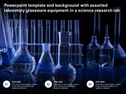 Template And Background With Assorted Laboratory Glassware Equipment In A Science Research Lab