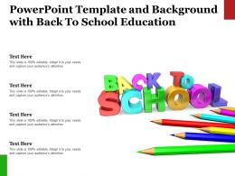 Template And Background With Back To School Education Ppt Powerpoint