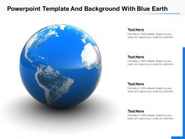 Template And Background With Blue Earth Ppt Powerpoint