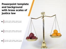 Template And Background With Brass Scales Of Justice Law Ppt Powerpoint