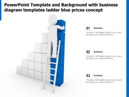 Template And Background With Business Diagram Templates Ladder Blue Prices Concept