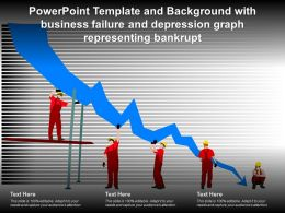 Template And Background With Business Failure And Depression Graph Representing Bankrupt