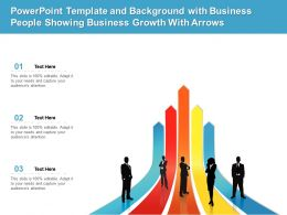 Template And Background With Business People Showing Business Growth With Arrows