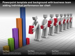 Template And Background With Business Team Adding Individual Performance Bar Chart
