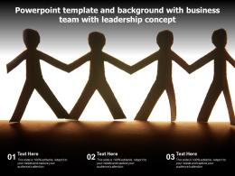 Template And Background With Business Team With Leadership Concept Ppt Powerpoint