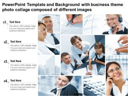 Template And Background With Business Theme Photo Collage Composed Of Different Images