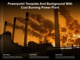 Template And Background With Coal Burning Power Plant Ppt Powerpoint