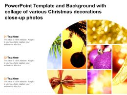 Template And Background With Collage Of Various Christmas Decorations Close Up Photos