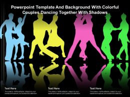 Template And Background With Colorful Couples Dancing Together With Shadows
