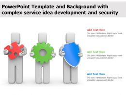 Template And Background With Complex Service Idea Development And Security