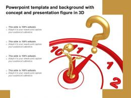 Template And Background With Concept And Presentation Figure In 3d Ppt Powerpoint
