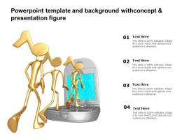 Template And Background With Concept And Presentation Figure Ppt Powerpoint