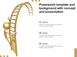Template And Background With Concept And Presentation Ppt Powerpoint