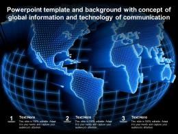 Template And Background With Concept Of Global Information And Technology Of Communication