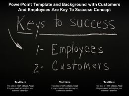 Template And Background With Customers And Employees Are Key To Success Concept