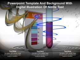 Template And Background With Digital Illustration Of Nitrite Test Ppt Powerpoint