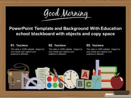Template And Background With Education School Blackboard With Objects And Copy Space