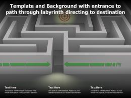Template And Background With Entrance To Path Through Labyrinth Directing To Destination