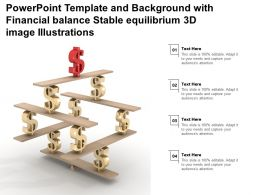 Template And Background With Financial Balance Stable Equilibrium 3d Image Illustrations