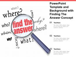Template And Background With Finding The Answer Concept Ppt Powerpoint