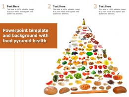 Template And Background With Food Pyramid Health Ppt Powerpoint
