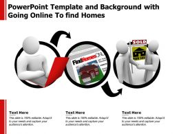 Template And Background With Going Online To Find Homes Ppt Powerpoint