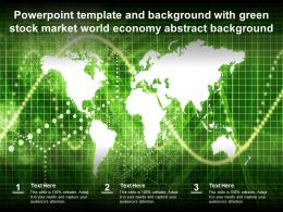 Template And Background With Green Stock Market World Economy Abstract Background