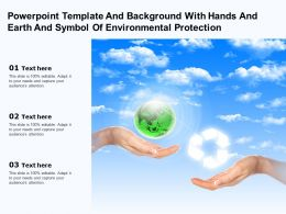 Template And Background With Hands And Earth And Symbol Of Environmental Protection
