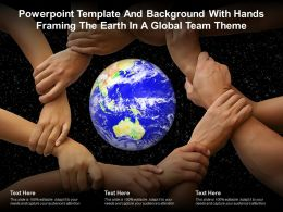 Template And Background With Hands Framing The Earth In A Global Team Theme