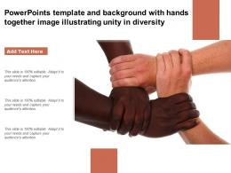 Template And Background With Hands Together Image Illustrating Unity In Diversity
