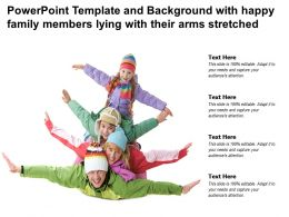 Template And Background With Happy Family Members Lying With Their Arms Stretched