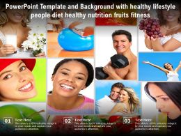 Template And Background With Healthy Lifestyle People Diet Healthy Nutrition Fruits Fitness