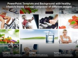Template And Background With Healthy Lifestyle Theme Collage Composed Of Different Images