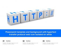 Template And Background With Hypertext Transfer Protocol Web Icon Isolated On White