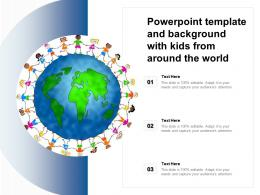 Template And Background With Kids From Around The World Ppt Powerpoint