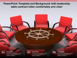 Template And Background With Leadership Table Contract Letter Comfortably Arm Chair
