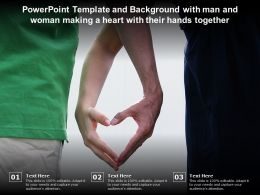Template And Background With Man And Woman Making A Heart With Their Hands Together