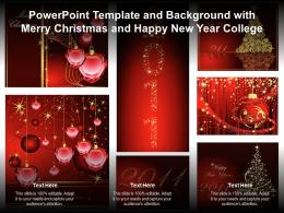 Template And Background With Merry Christmas And Happy New Year College Ppt Powerpoint