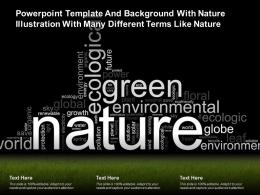 Template And Background With Nature Illustration With Many Different Terms Like Nature