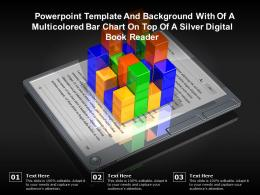Template And Background With Of A Multicolored Bar Chart On Top Of A Silver Digital Book Reader