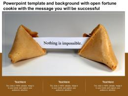 Template And Background With Open Fortune Cookie With The Message You Will Be Successful